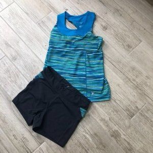 Old Navy Work Out Bundle Tank Top Matching Shorts